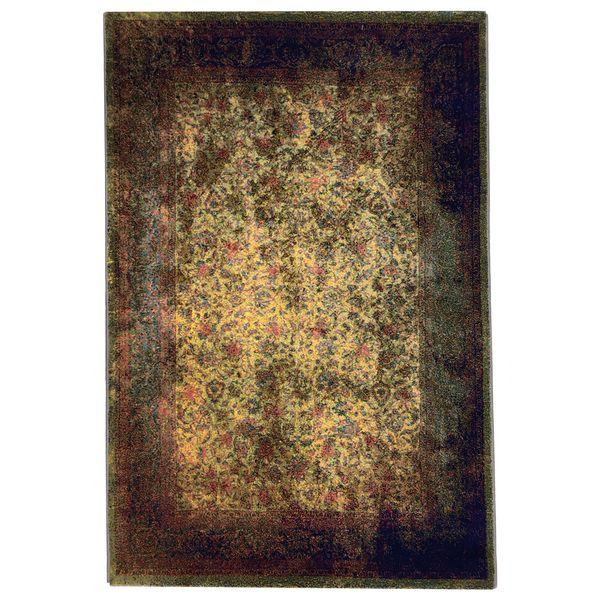 فرش ماشینی طرح پتینه فانتزی کد 563 زمینه نارنجی  