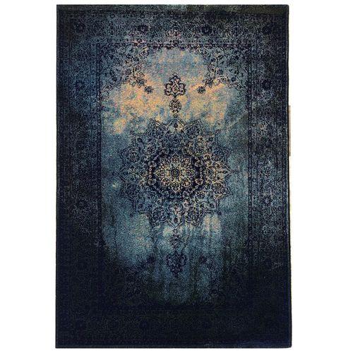 فرش ماشینی طرح پتینه فانتزی کد 566 زمینه سورمه ای