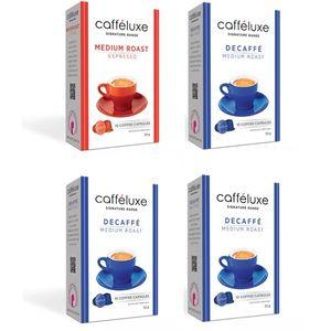 کپسول قهوه کافه لوکس مدل مدیوم و دیکف رست تعداد ۴۰ عددی