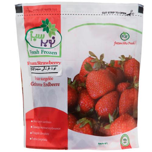 توت فرنگی منجمد نوبر سبز مقدار 400 گرم