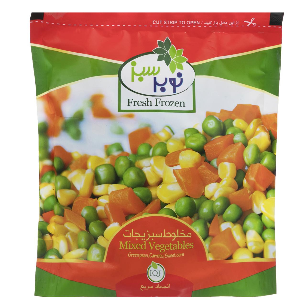 مخلوط سبزیجات منجمد نوبر سبز مقدار 400 گرم