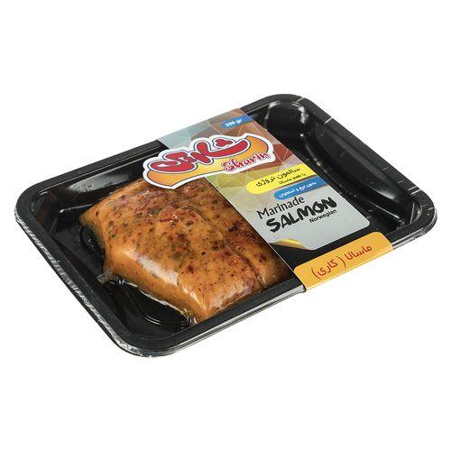 ماهی سالمون منجمد نروژی با طعم ماسالا شارین مقدار 350 گرم
