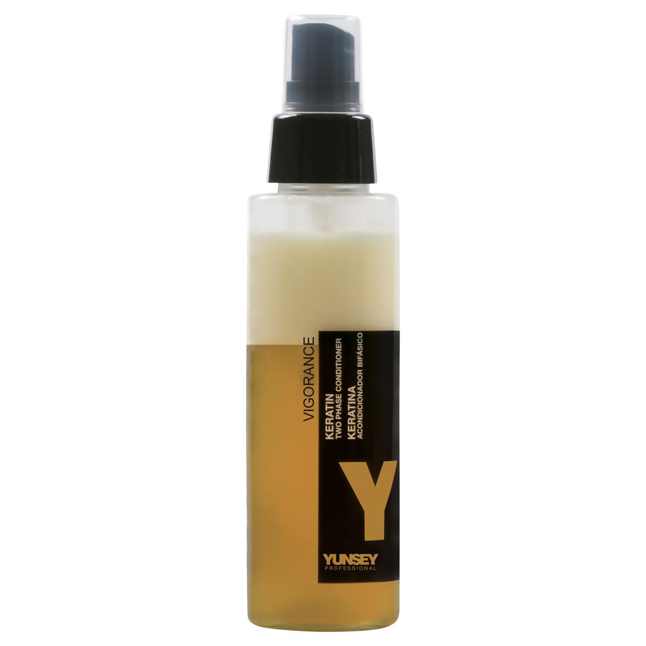 اسپری دوفاز ترمیم کننده و تقویت کننده مو یانسی مدل کراتین گلد حجم 100 میلی لیتر