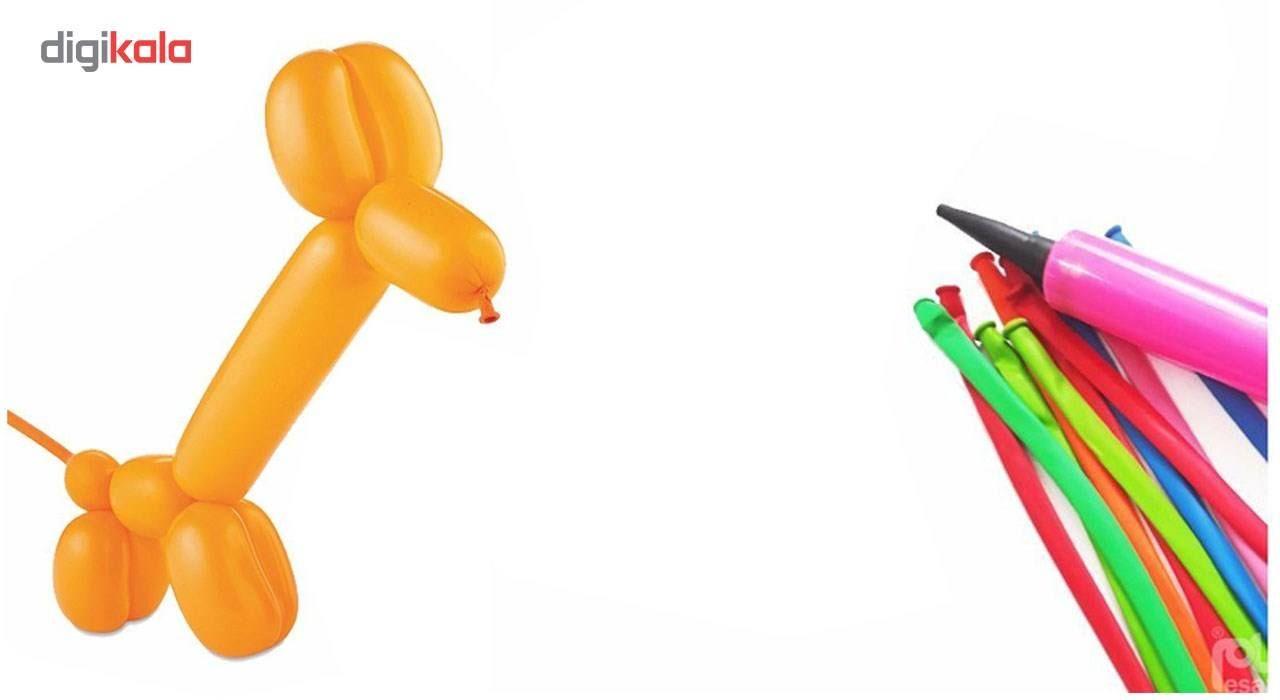 بادکنک ماری مدل لاتکس به همراه تلمبه بسته 10 عددی main 1 2