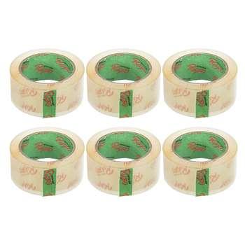 چسب نواری پهن رابو کد Y90Gr عرض 4.8 سانتی متر بسته 6 عددی
