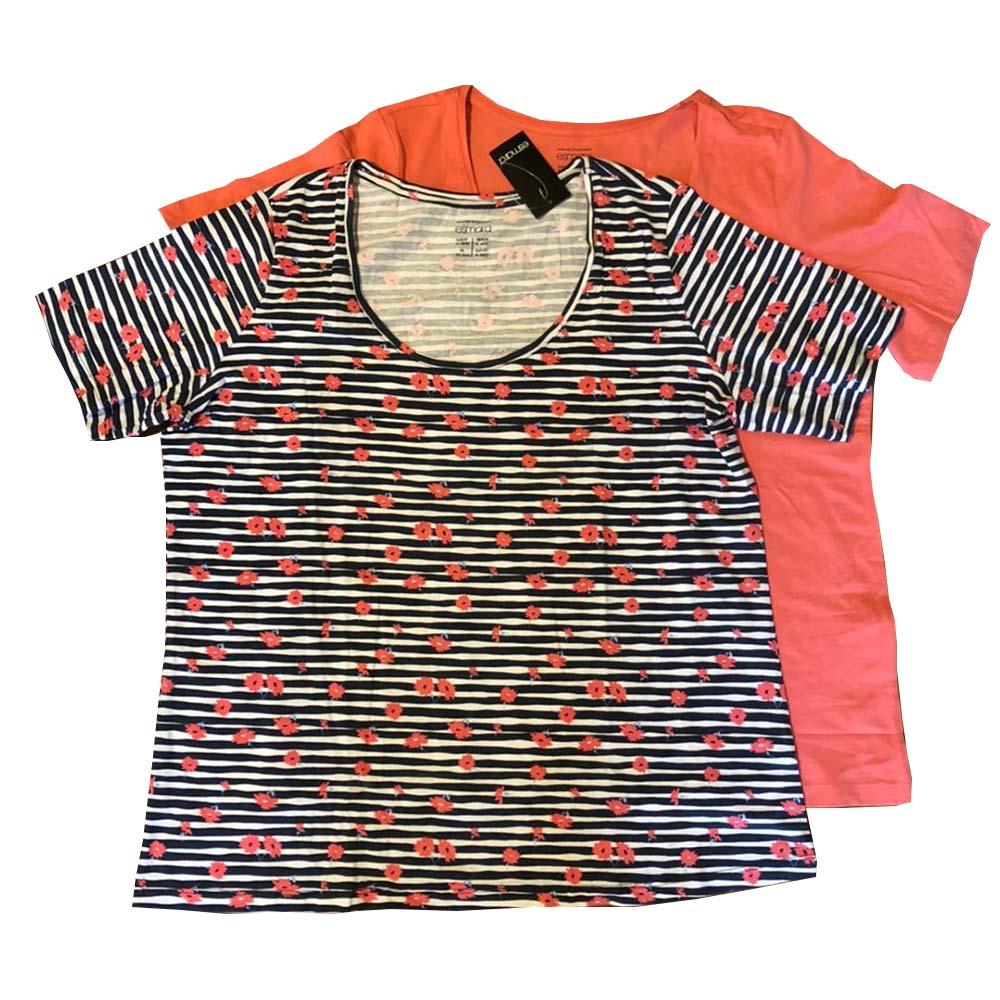 تی شرت زنانه اسمارا مدل t2 مجموعه دو عددی