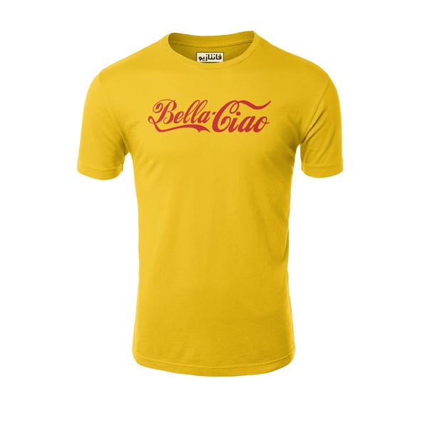 تیشرت آستین کوتاه مردانه فانتازیو طرح Bella Ciao مدل 131 کد LCDP004