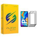 محافظ صفحه نمایش فلش مدل +HD مناسب برای گوشی موبایل هوآوی P30 lite بسته سه عددی
