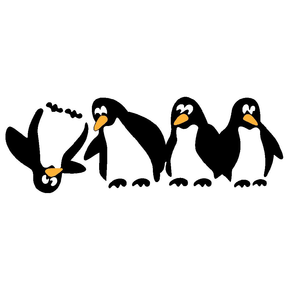 استیکر فراگراف  کلید و پریز FG طرح پنگوئن ها کد 002