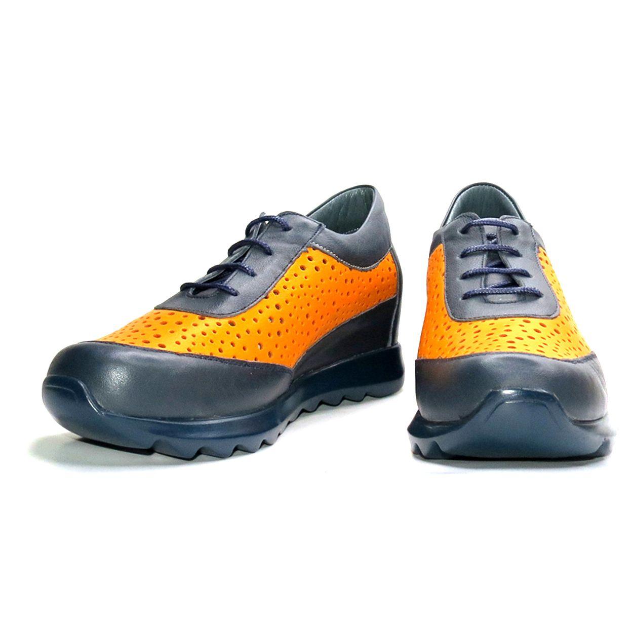 کفش روزمره زنانه آر اند دبلیو مدل 642 رنگ سرمه ای -  - 5