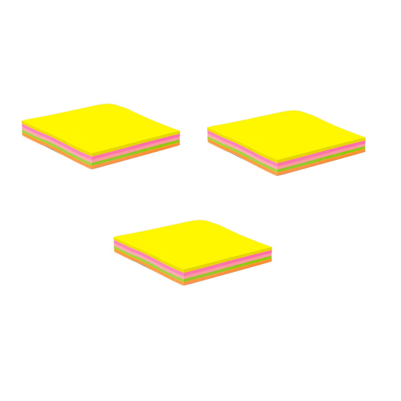 کاغذ یادداشت چسب دار فنس کد FA9202  سه بسته 100 برگی