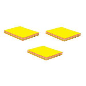 کاغذ یادداشت چسب دار فنس کد FA9203  سه بسته 100 برگی