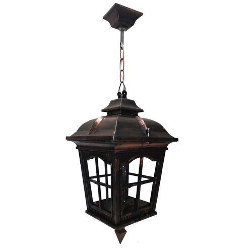 چراغ حیاطی آویز مدل کلبه