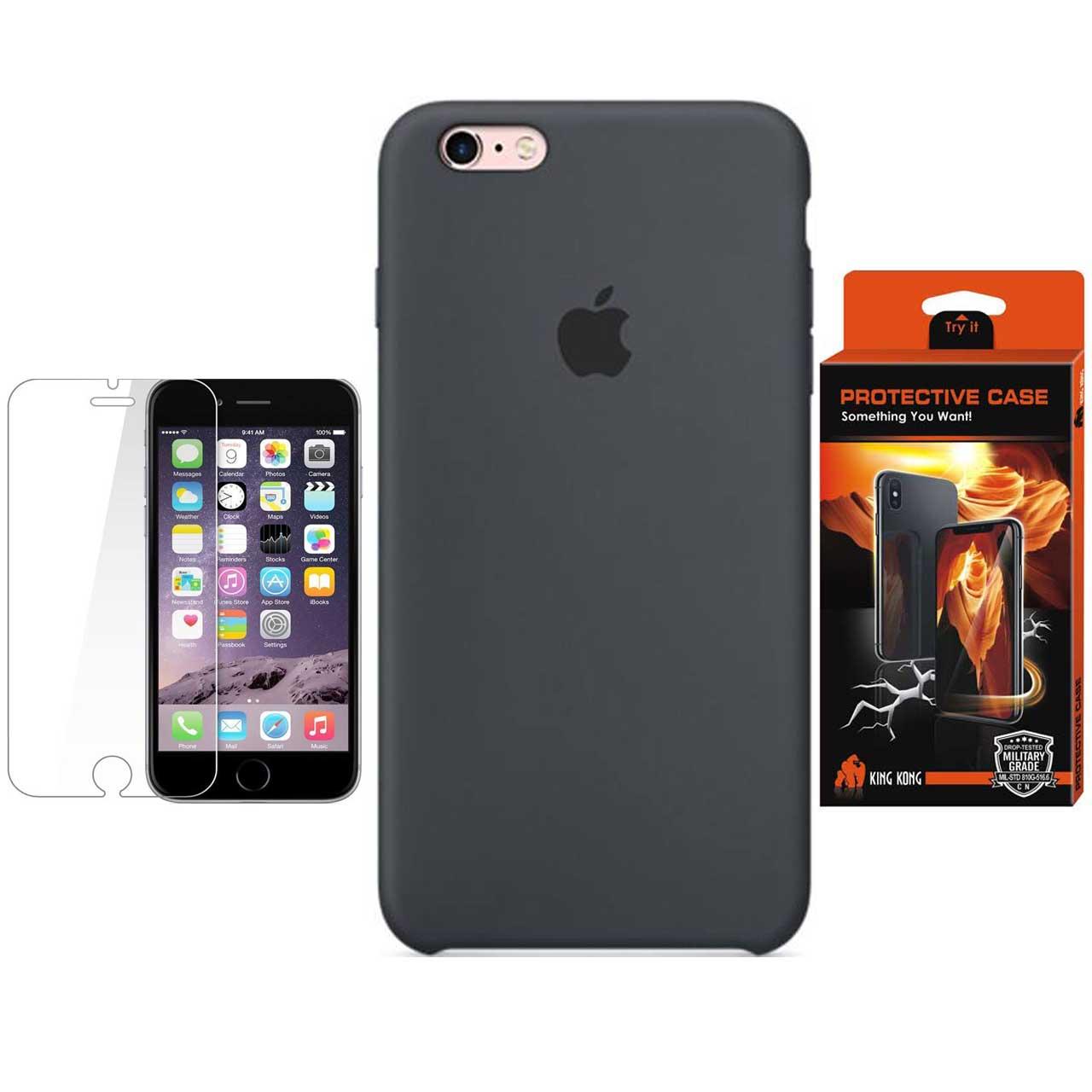 کاور سیلیکونی پروتکتیو کیس مدل Hyper Protector مناسب برای گوشی موبایل اپل iPhone 6Plus/6S Plus به همراه محافظ صفحه نمایش