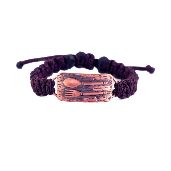 دستبند زرمس مدل قاشق و چنگال