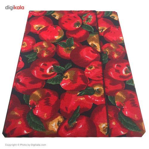 رومیزی کتان مستطیلی 220 × 150 رزین تاژ طرح سیب