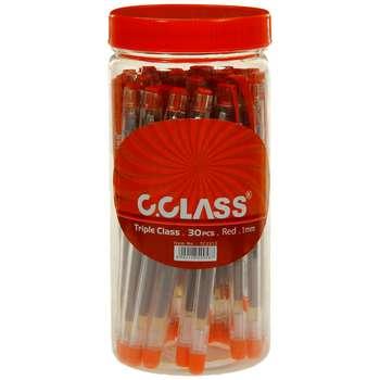 خودکار سی کلس مدل Triple Class قرمز کد TC2312-393 بسته 30 عددی سایز 1