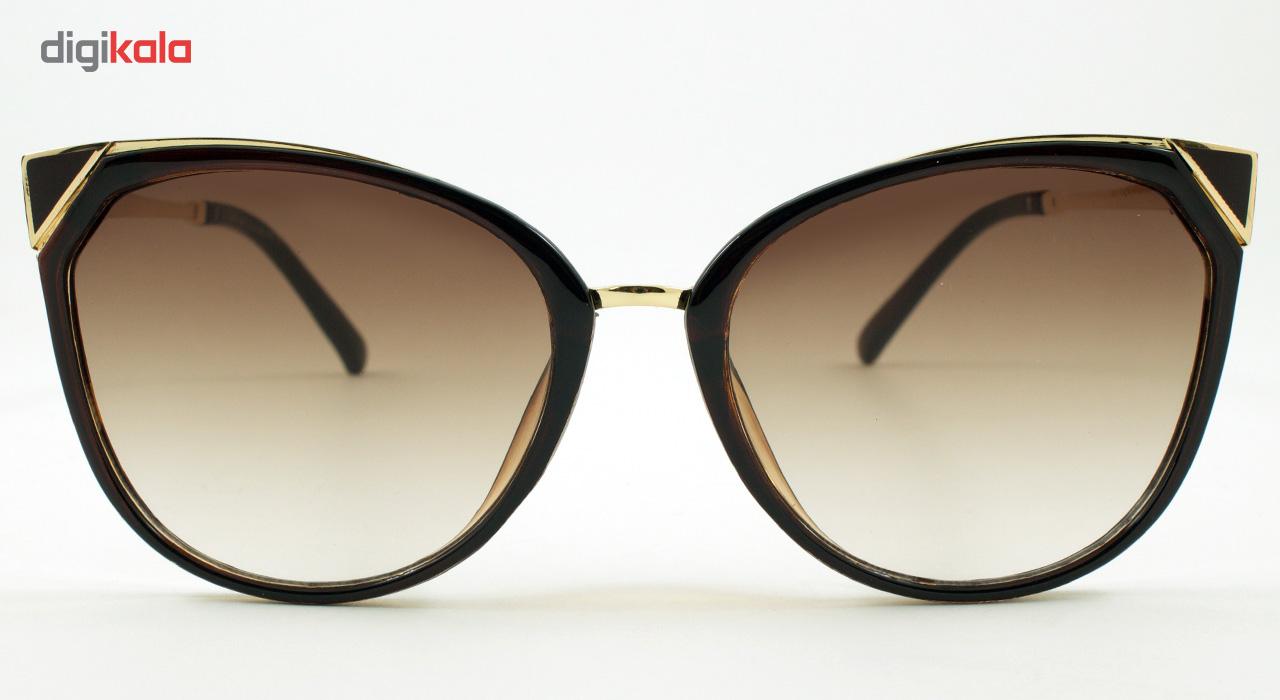 عینک آفتابی زنانه مدل Mountain Brown Shifted Edge
