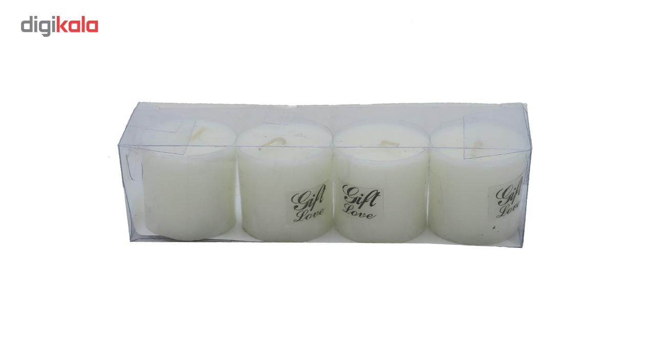 شمع استوانه ای مدل Gift 1 مجموعه 4 عددی  در بزرگترین فروشگاه اینترنتی جنوب کشور ویزمارکت