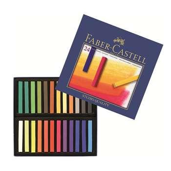 پاستل گچی 24 رنگ فابر کاستل مدل Studio Quality