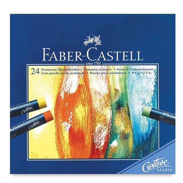 پاستل روغنی 24 رنگ فابر کاستل مدل Studio Quality