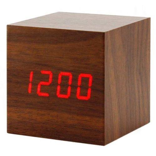 ساعت رومیزی دیجیتال مدل وودن کلاک مکعبی