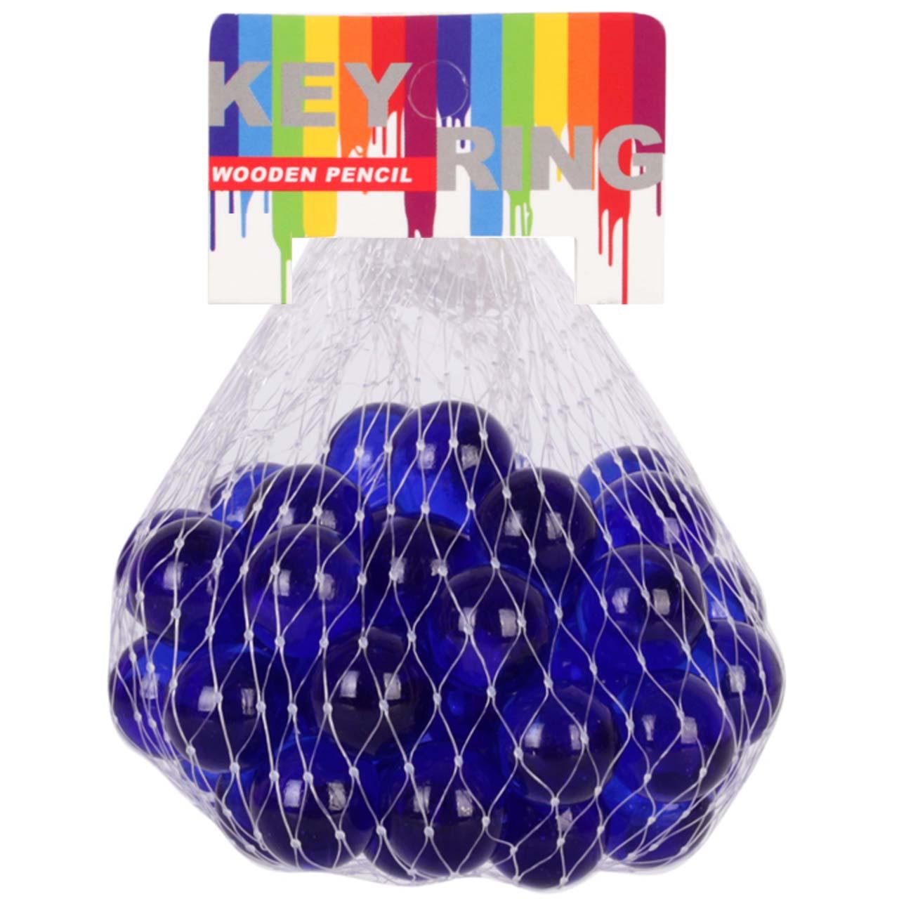 تیله شیشه ای مداد چوبی مدل Navy Blue بسته 25 عددی