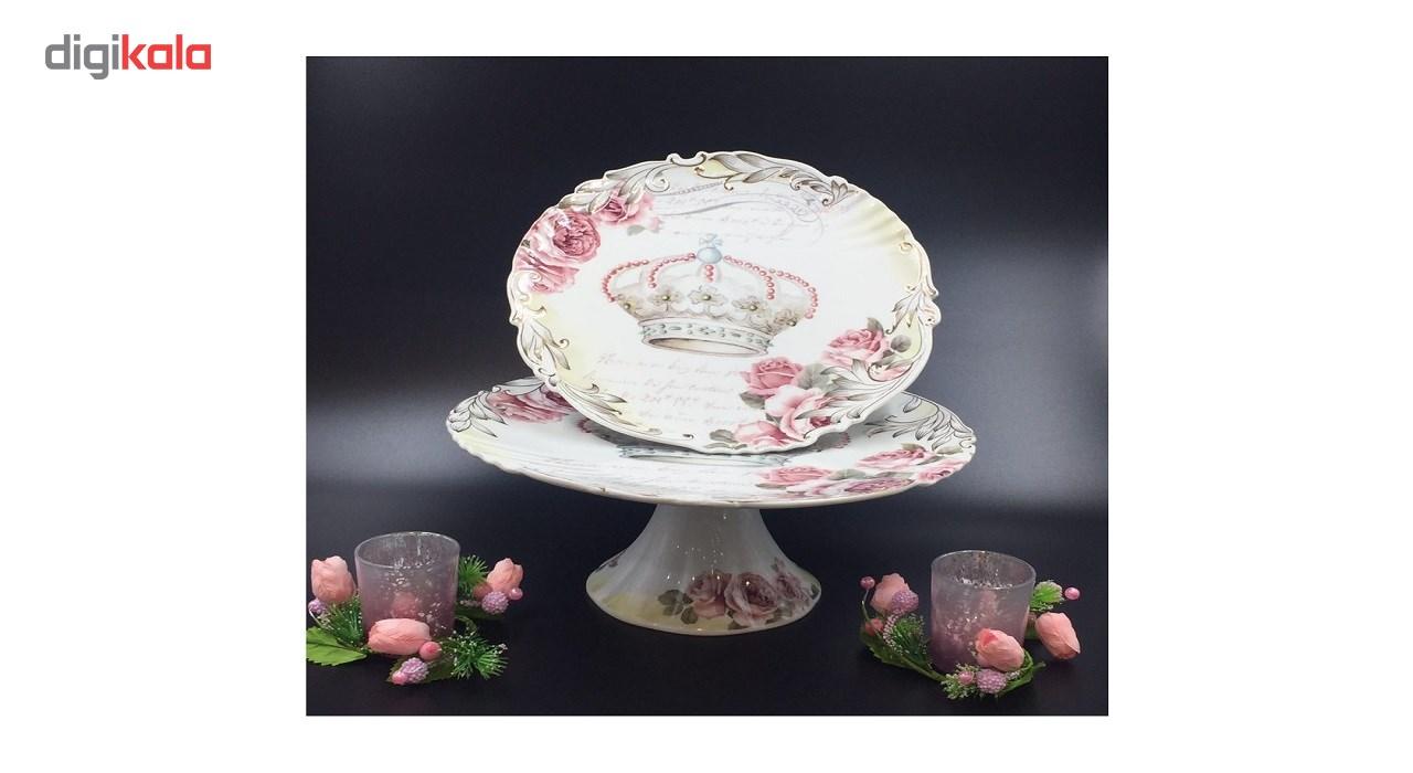 کیک خوری چینی ویکتور مدل Crown کد 370