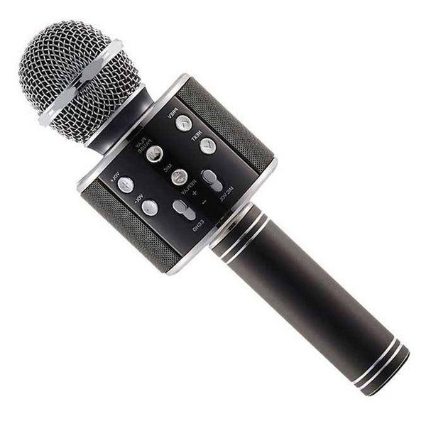 بلندگو دستی با اکو و بلوتوث مدل Q-858 | Q-858  WSIER Karaoke Mic. Bluetooth Speaker