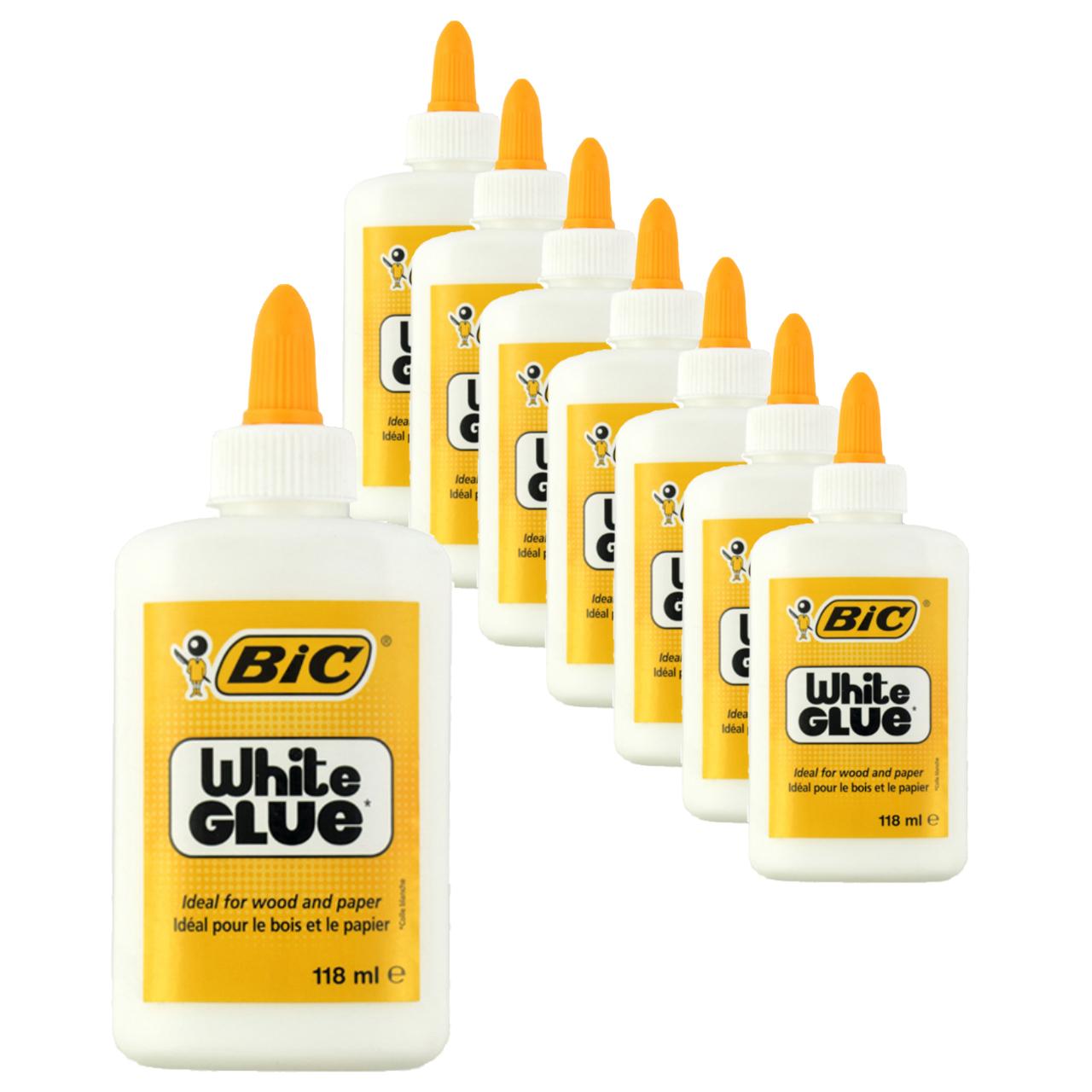چسب همه کاره بیک مدل White Giue بسته 8 عددی