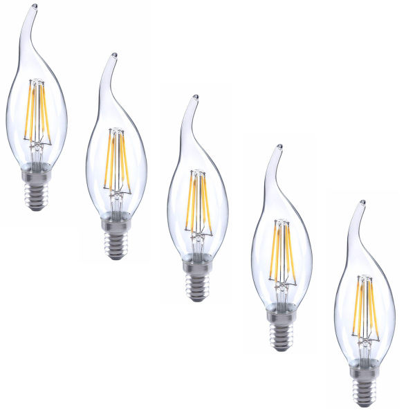 لامپ ال ای دی فیلامنتی 4 وات هالی استار کد TAILED پایه E14 بسته 5 عددی