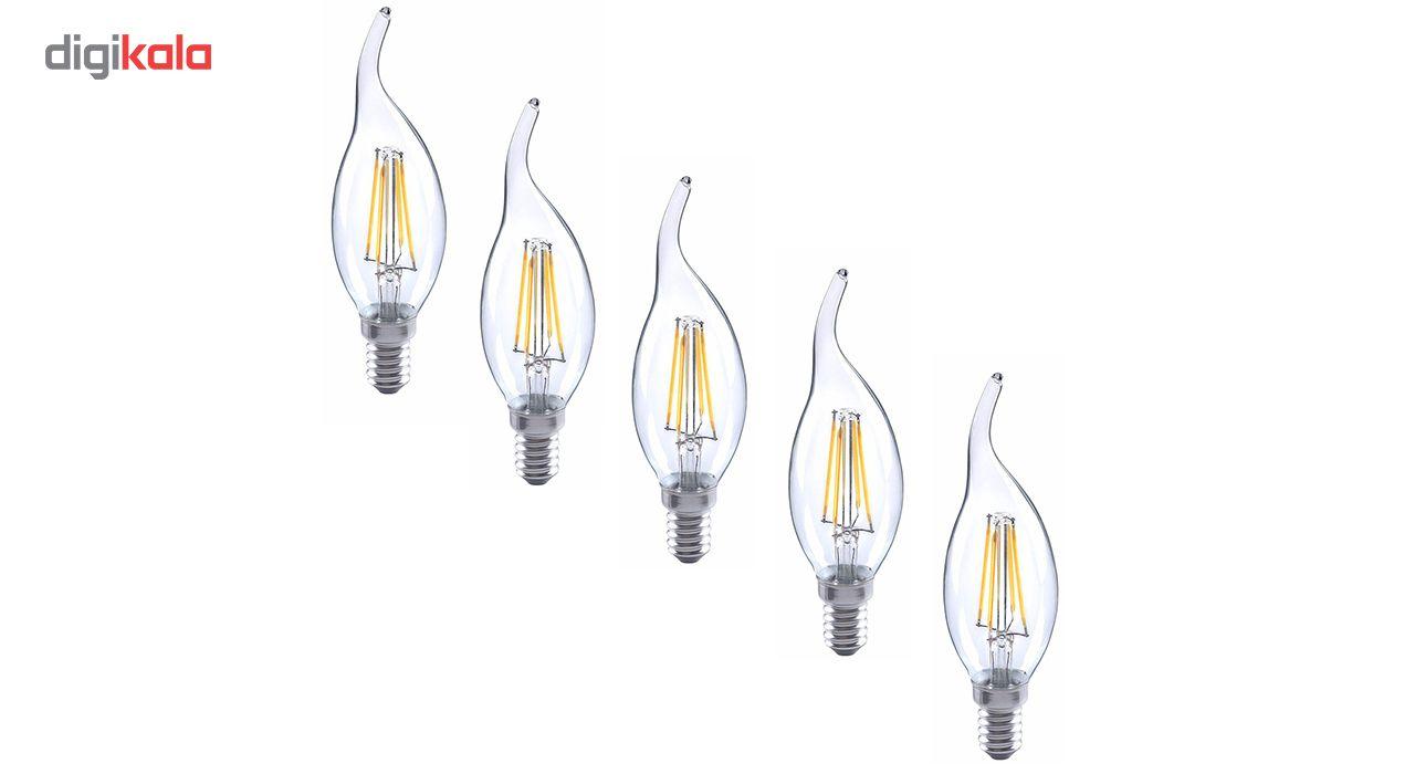لامپ ال ای دی فیلامنتی 4 وات هالی استار کد TAILED پایه E14 بسته 5 عددی  main 1 1