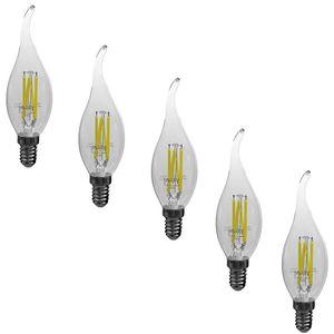 لامپ ال ای دی فیلامنتی 6 وات هالی استار مدل TAILED پایه E14 بسته 5 عددی