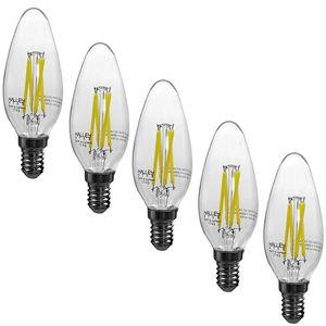 لامپ ال ای دی فیلامنتی 6 وات هالی استار مدل CANDLE پایه E14 بسته 5 عددی