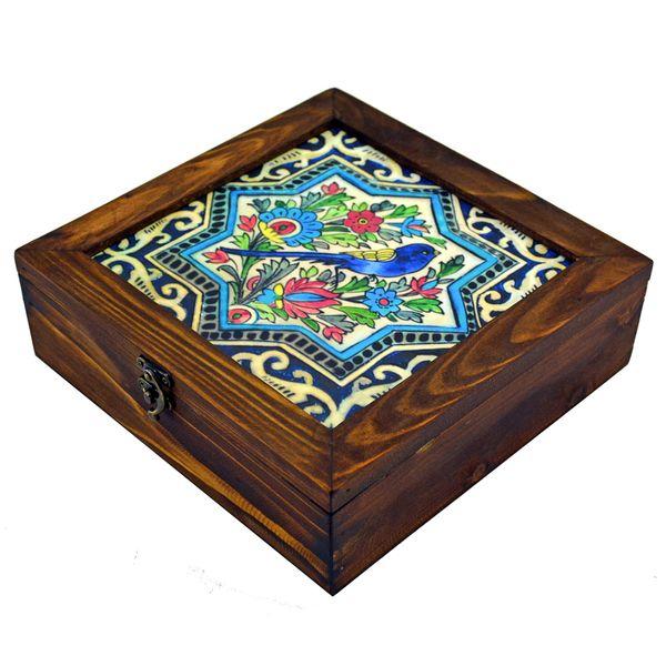 جعبه چای کیسه ای مدل گل و مرغ