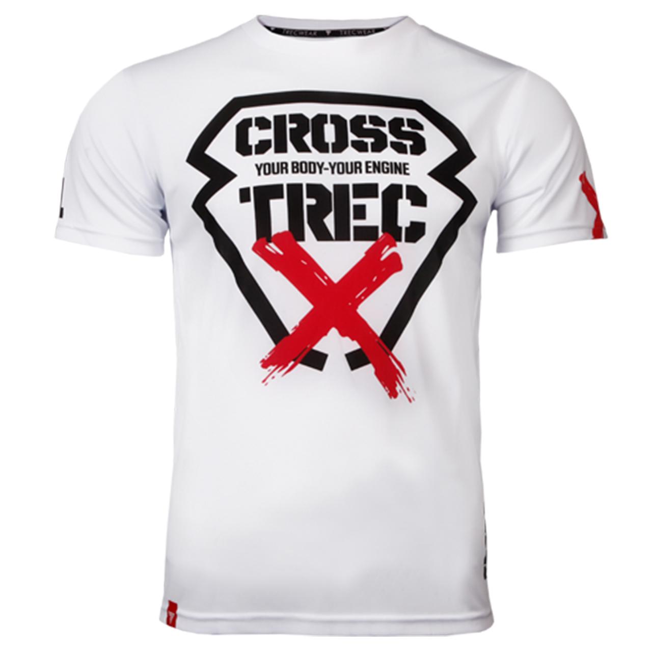 تیشرت ورزشی مردانه ترِک ویر مدل Cooltrec 011 Cross White