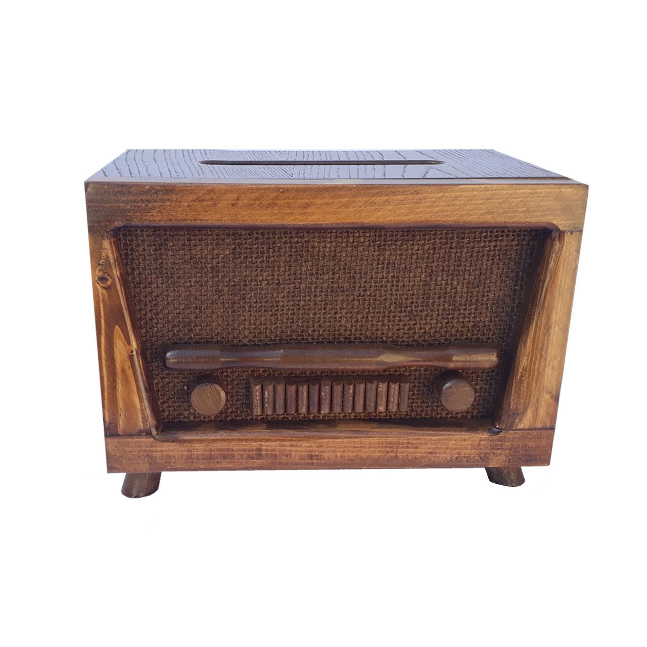 عکس جعبه دستمال کاغذی طرح رادیو مدل E11