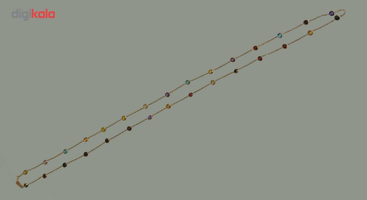 گردنبند رولباسی طلا 18عیار گالری طلای کانیار مدل M814