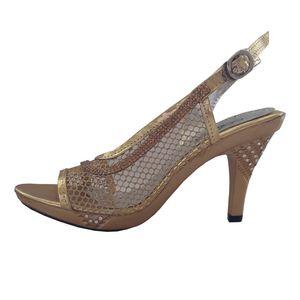 کفش پاشنه دار زنانه لاماسو مدل Aidin gold01