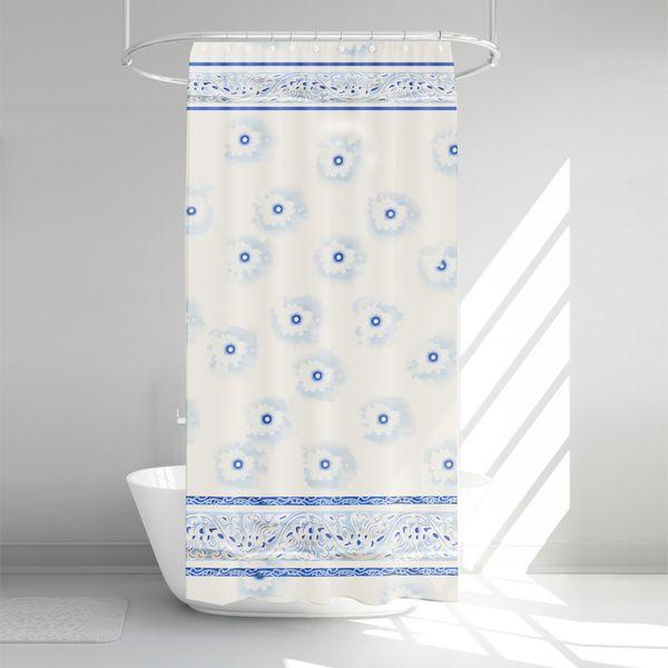 پرده حمام آرمیتا کد W009 سایز 180 × 200 سانتی متر