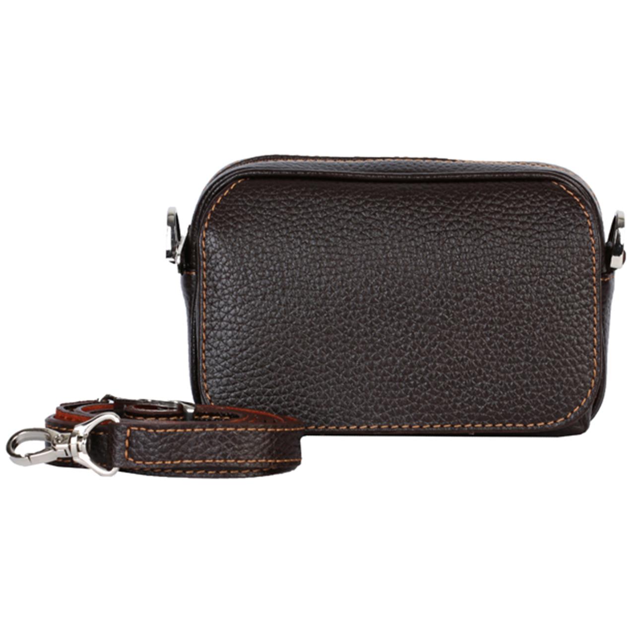 کیف دوشی رویال چرم کدW60-DarkBrown
