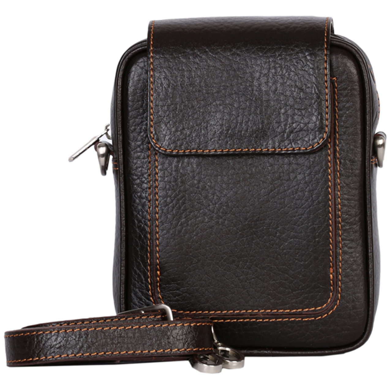 کیف دوشی رویال چرم کد W55-DarkBrown
