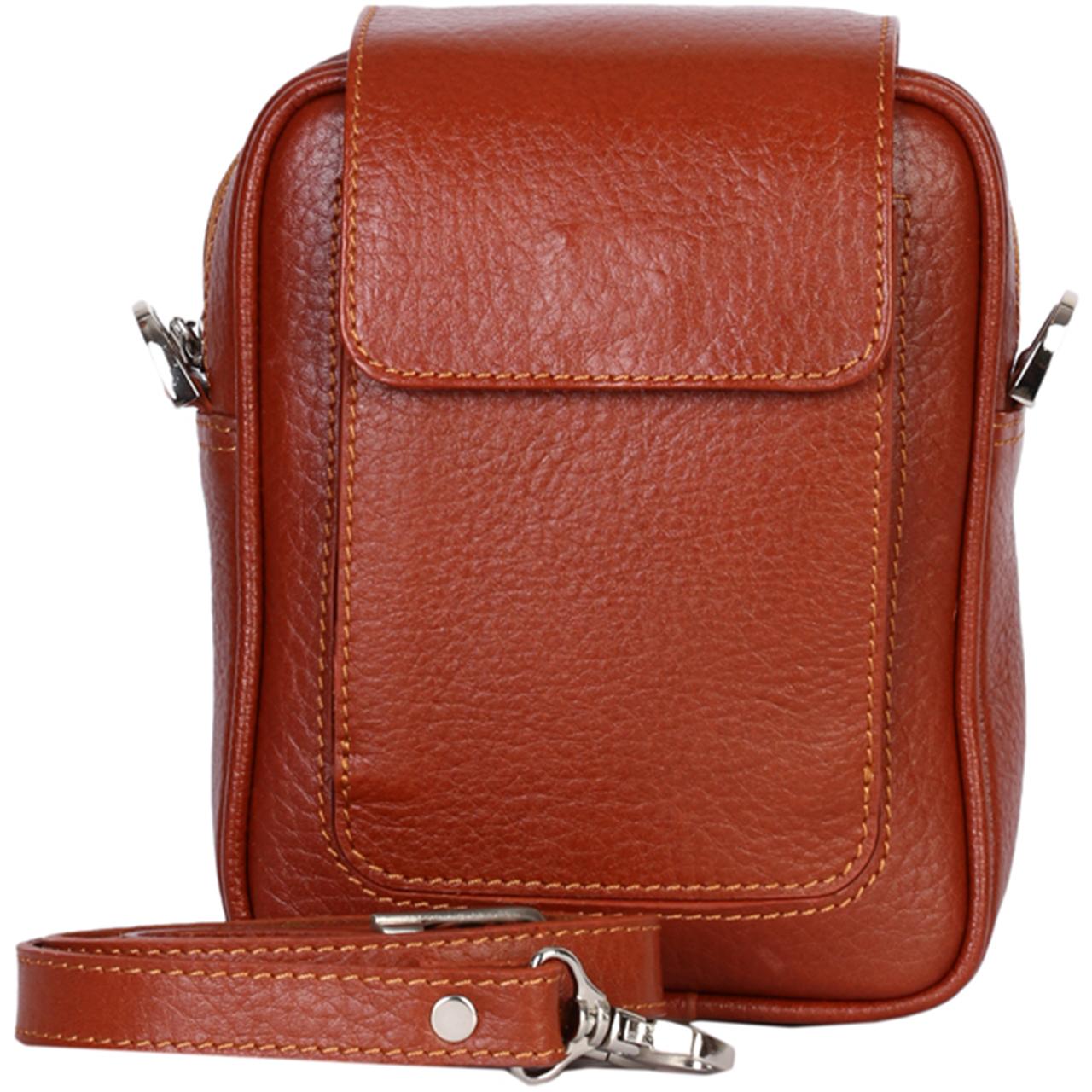 کیف دوشی رویال چرم کد W55-Brown