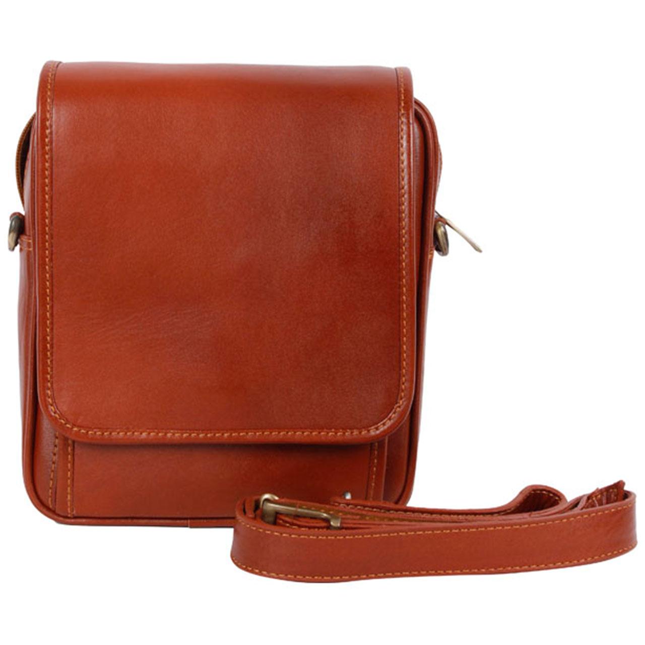 کیف دوشی رویال چرم کد W4-Brown
