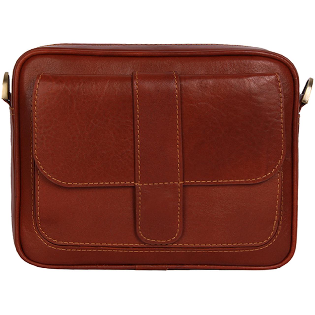 کیف دوشی رویال چرم کد W6-Brown