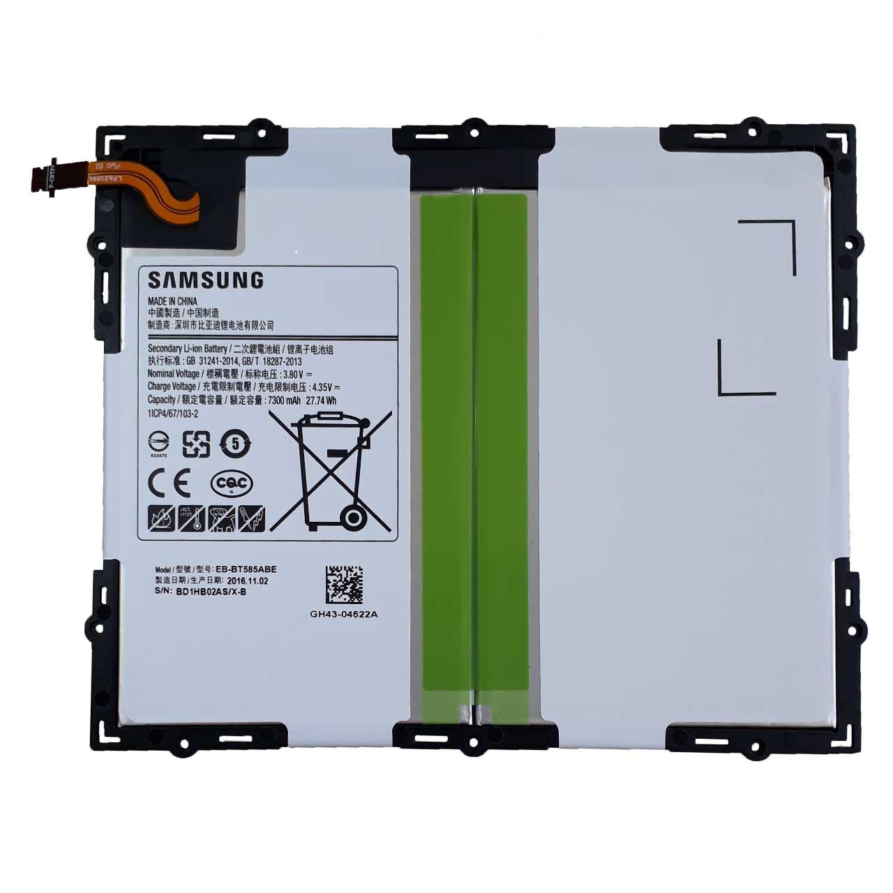 باتری تبلت مدل EB-BT585ABE ظرفیت 7300 میلی آمپر مناسب تبلت سامسونگ Tab A 10.1 - 2016