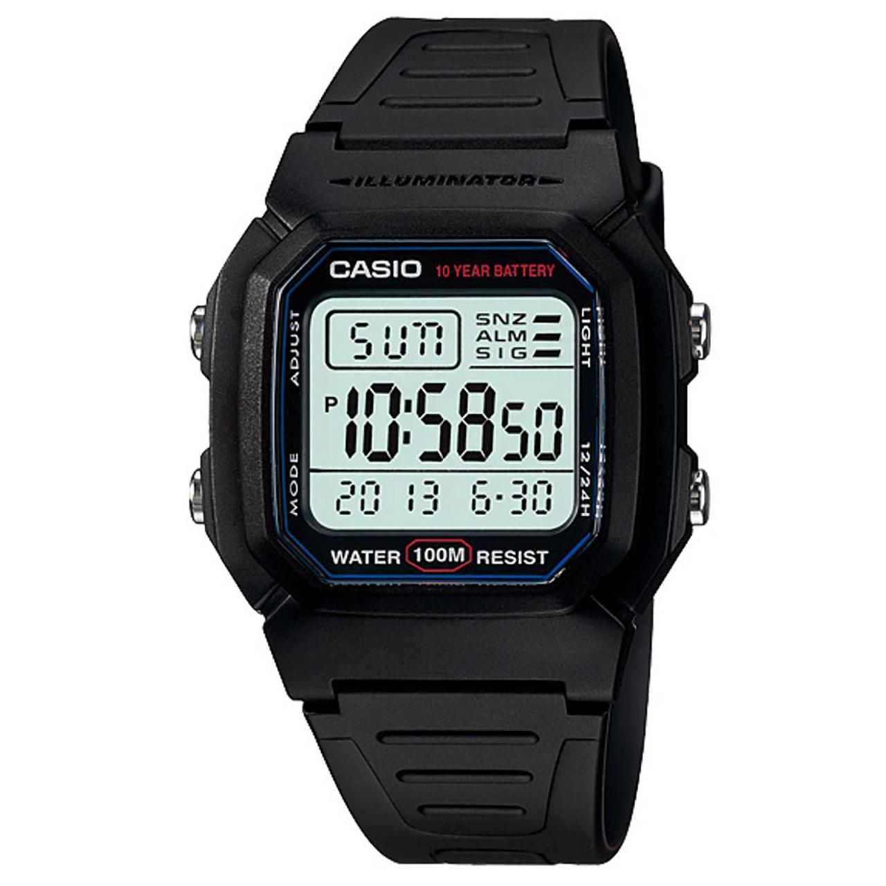 ساعت مچی دیجیتالی کاسیو مدل W-800H-1AVDF