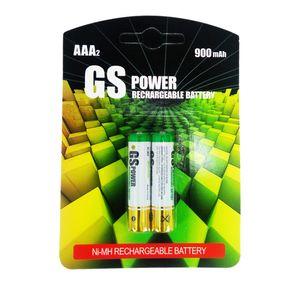 باتری نیم قلمی قابل شارژ جی اس پاور مدل Ni-MH بسته دو عددی