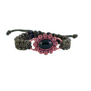 دستبند زرمس مدل گل سنگ کد21