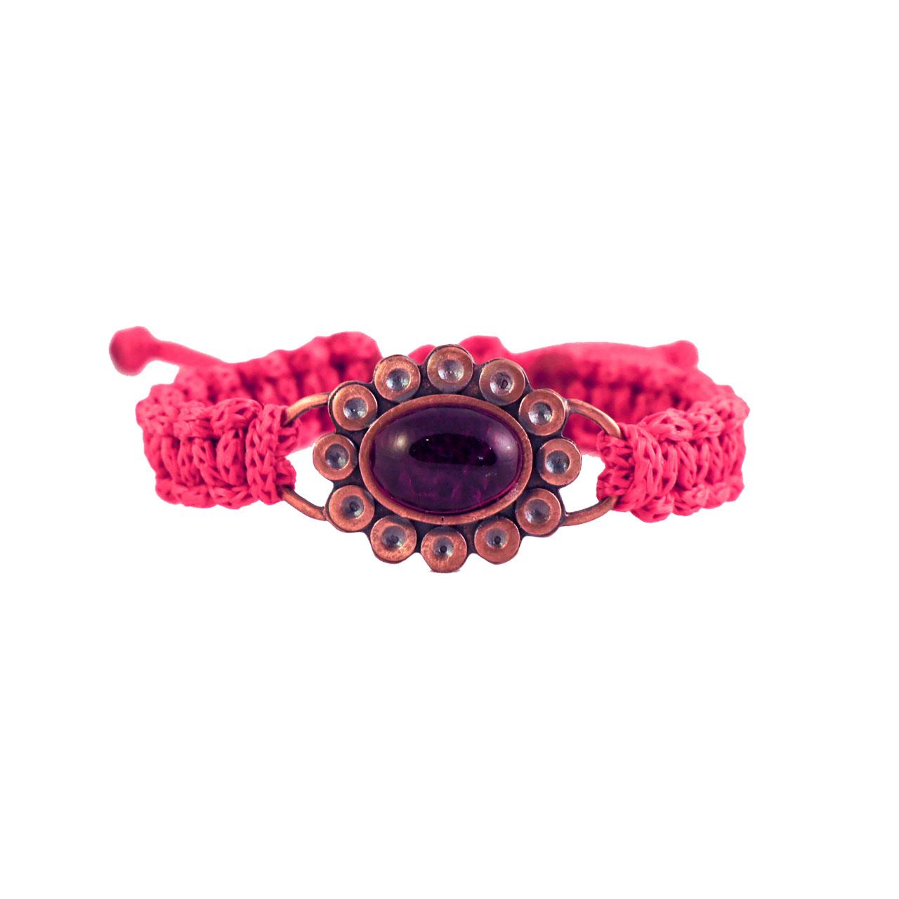دستبند زرمس مدل گل سنگ کد11
